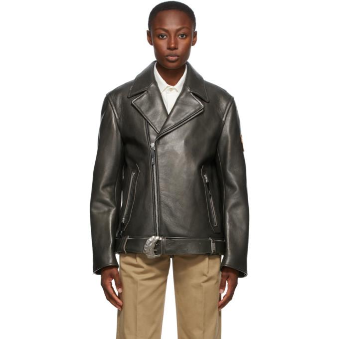 ADER error ADER error Black Leather Oversized Norman Jacket