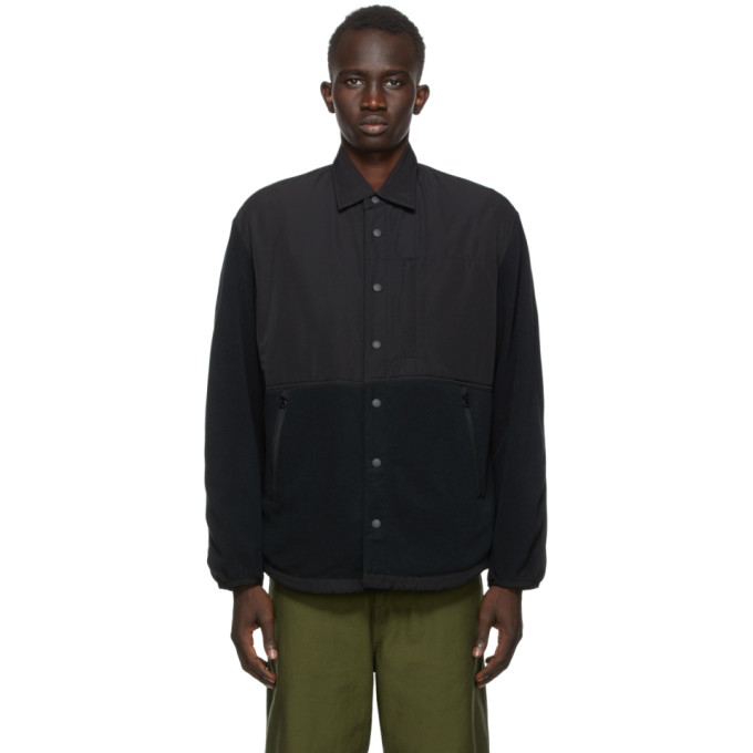 Comme des Garcons Homme Comme des Garcons Homme Black Rayon Fleece Jacket