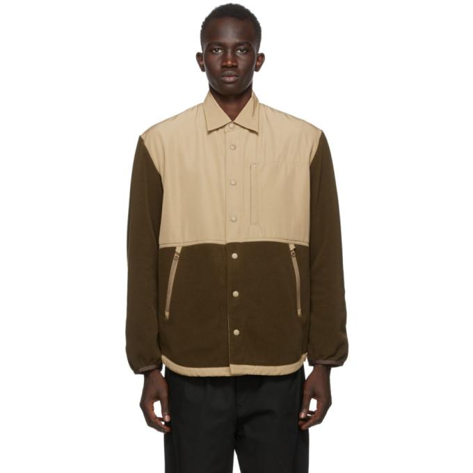 Comme des Garcons Homme Comme des Garcons Homme Khaki Rayon Fleece Jacket