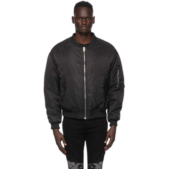 SSENSE Exclusive Reversible Black Classic Bomber Jacket