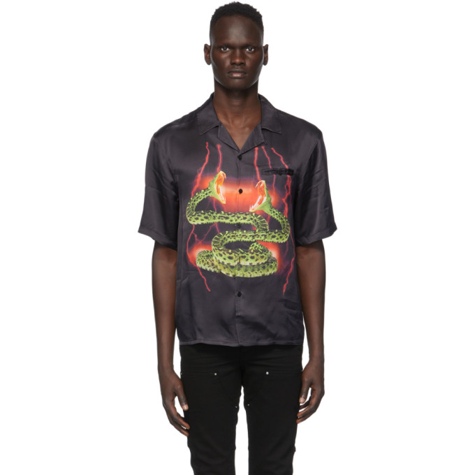 SSENSE Exclusive Black Lightning Hawaiian Short Sleeve Shirt