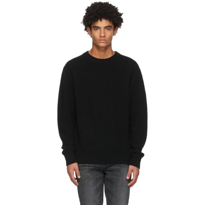 Moussy Vintage Black Mvm Overlap Sweater In 020 Blk
