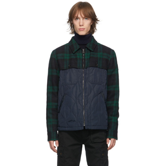 Belstaff Belstaff Navy and Green Lodge Jacket