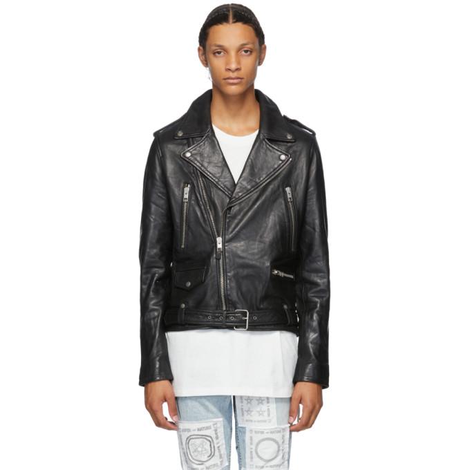 Ksubi Ksubi Black Leather Loathing Biker Jacket