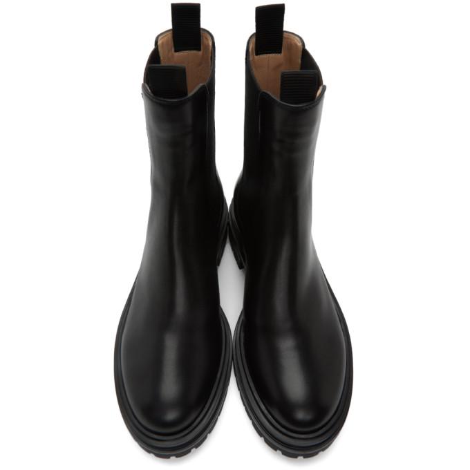 GIANVITO ROSSI Leathers GIANVITO ROSSI BLACK CHESTER BOOTS