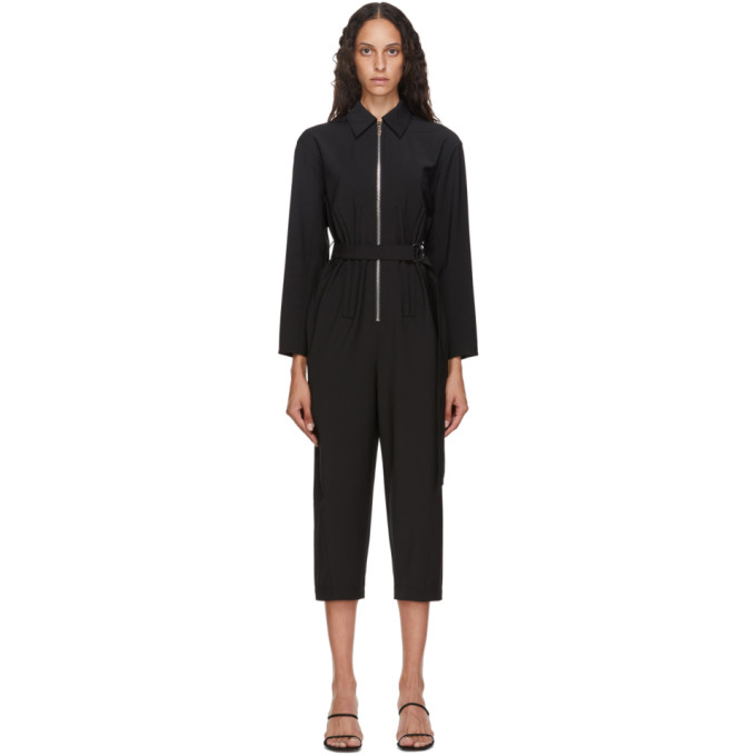 Tibi TIBI BLACK TROPICAL CORSET JUMPSUIT