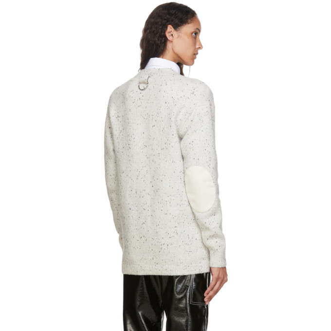 TIBI Cardigans TIBI OFF-WHITE ECO TWEEDY OVERSIZED CARDIGAN