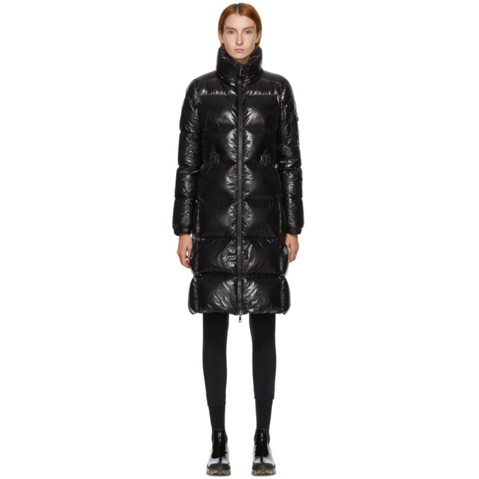 Moncler BLACK DOWN SHINY MOYADONS LONG COAT