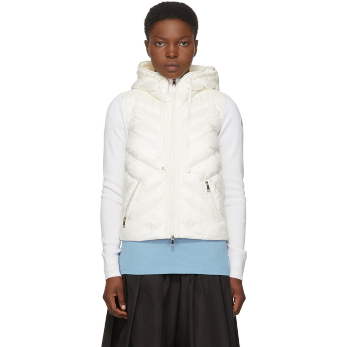 Moncler Moncler White Down Hooded Jacket
