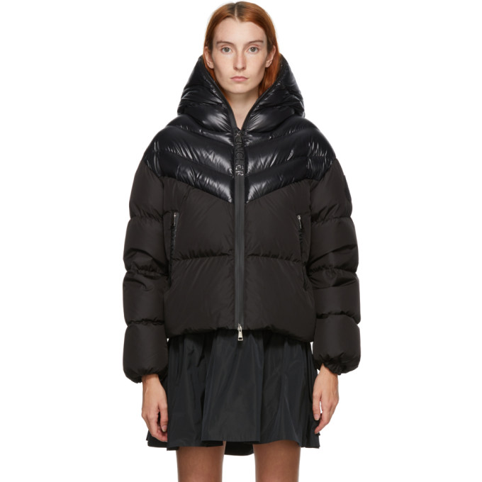 Moncler MONCLER BLACK DOWN GUENIOC COAT