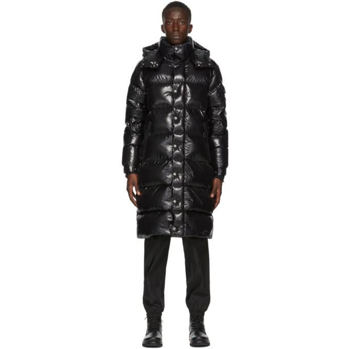 Moncler Manteau en duvet noir Hanoverian