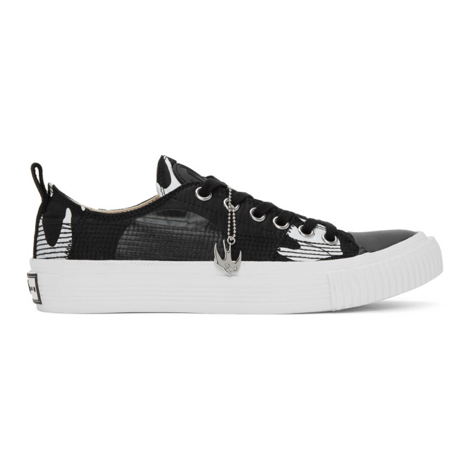 Mcq By Alexander Mcqueen MCQ ALEXANDER MCQUEEN BLACK AND WHITE SWALLOW ORBYT SNEAKERS