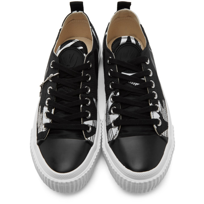 MCQ BY ALEXANDER MCQUEEN Canvases MCQ ALEXANDER MCQUEEN BLACK AND WHITE SWALLOW ORBYT SNEAKERS