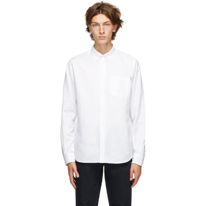 Norse Projects Chemise oxford blanche Anton
