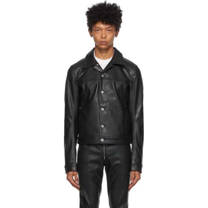 Rick Owens Drkshdw Rick Owens Drkshdw Black Faux Leather Worker Jacket