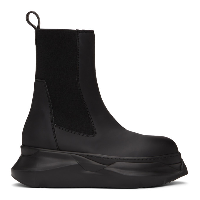 Rick Owens Drkshdw 黑色 Abstract Beetle 中筒靴