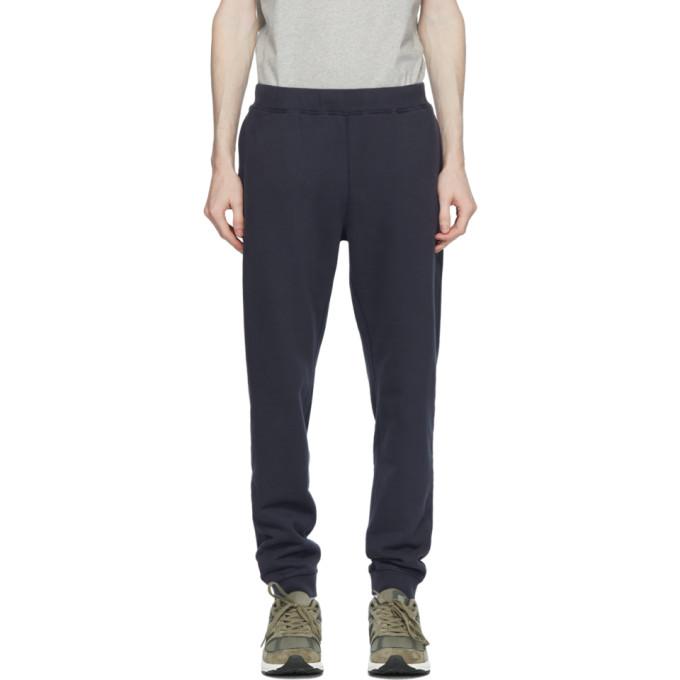 Sunspel Pantalon de survetement bleu marine Loopback