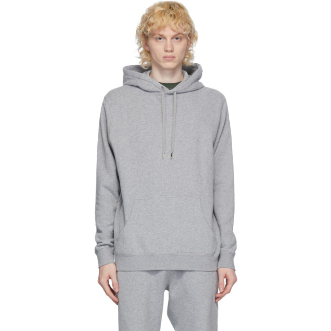 Sunspel Pull a capuche gris Loopback