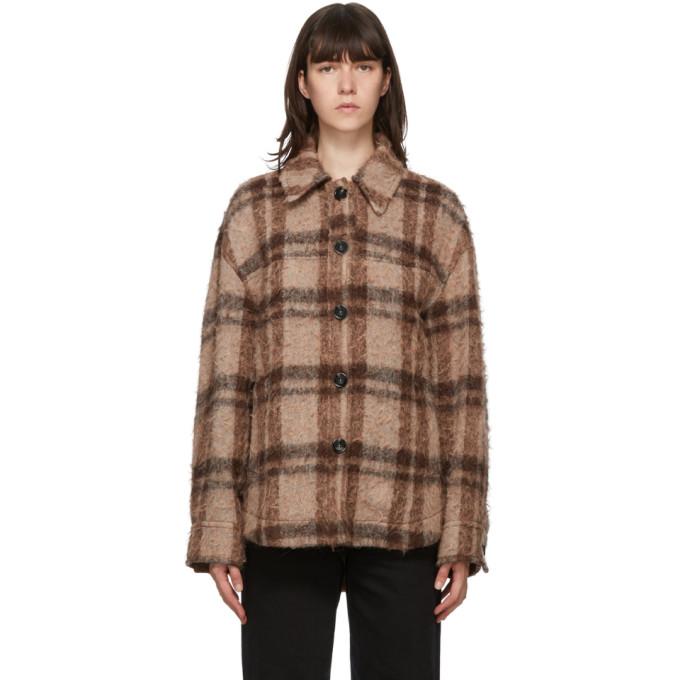Acne Studios Acne Studios Brown and Orange Wool Check Jacket