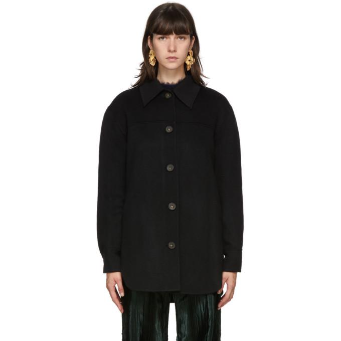 Acne Studios Acne Studios Black Wool Over Shirt Jacket
