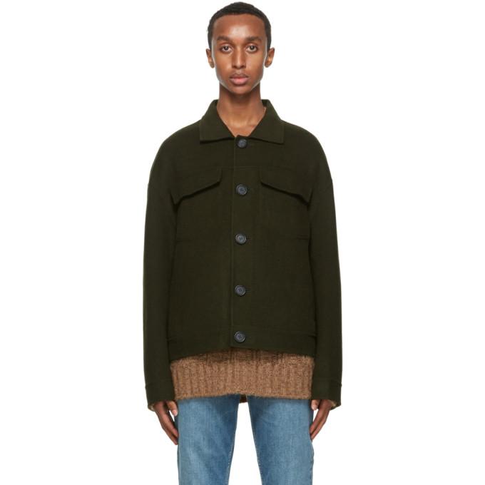 Acne Studios Acne Studios Green Wool Twill Jacket