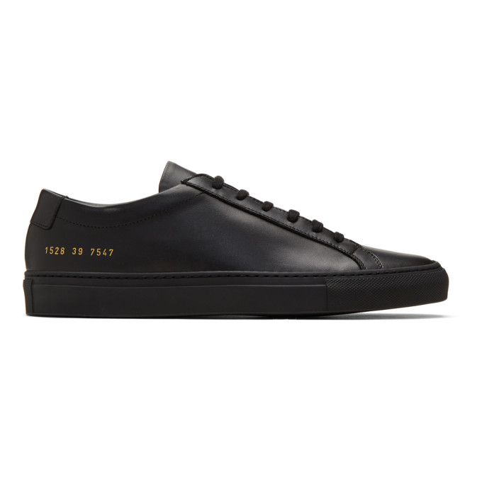 Common Projects COMMON PROJECTS BLACK ORIGINAL ACHILLES LOW SNEAKERS