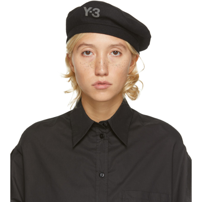 Y-3 Y-3 BLACK WOOL LOGO BERET