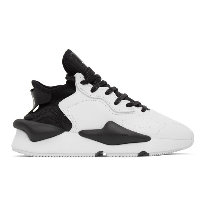 Y-3 Y-3 BLACK AND WHITE KAIWA SNEAKERS