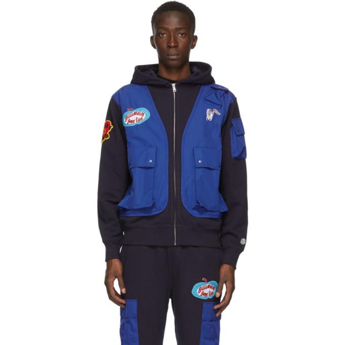 Billionaire Boys Club Pull a capuche et glissiere bleu marine Tactical