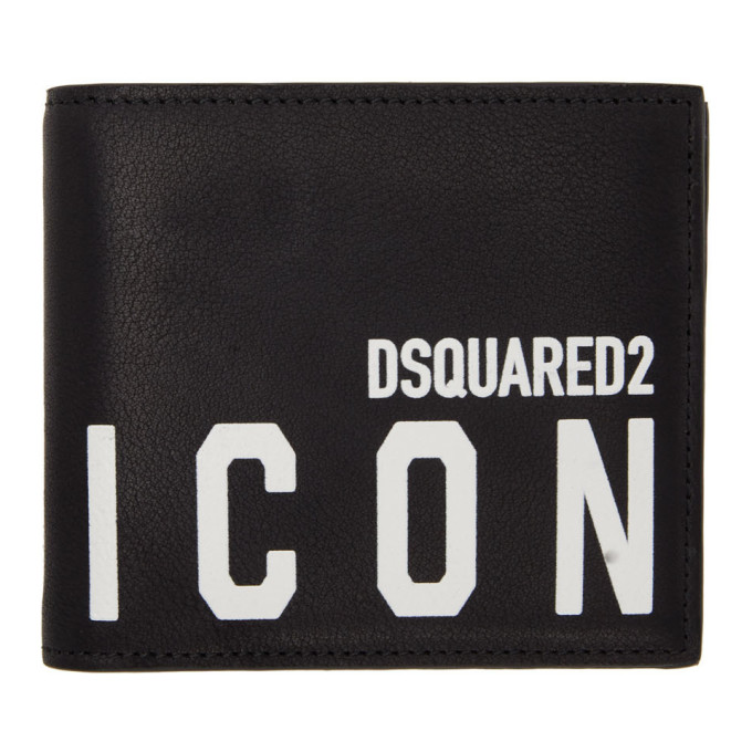 Dsquared2 DSQUARED2 BLACK ICON BIFOLD WALLET