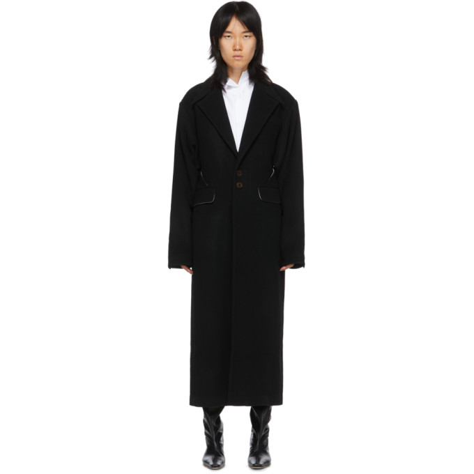 Situationist Manteau noir Oversize Shoulder