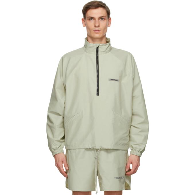 Essentials Essentials Green Half-Zip Track Jacket
