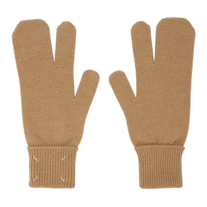 Maison Margiela Gloves MAISON MARGIELA BEIGE TABI GLOVES