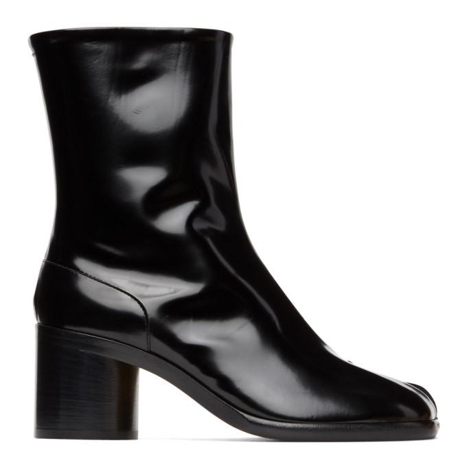 ブラック パテント Tabi 足袋 ブーツ