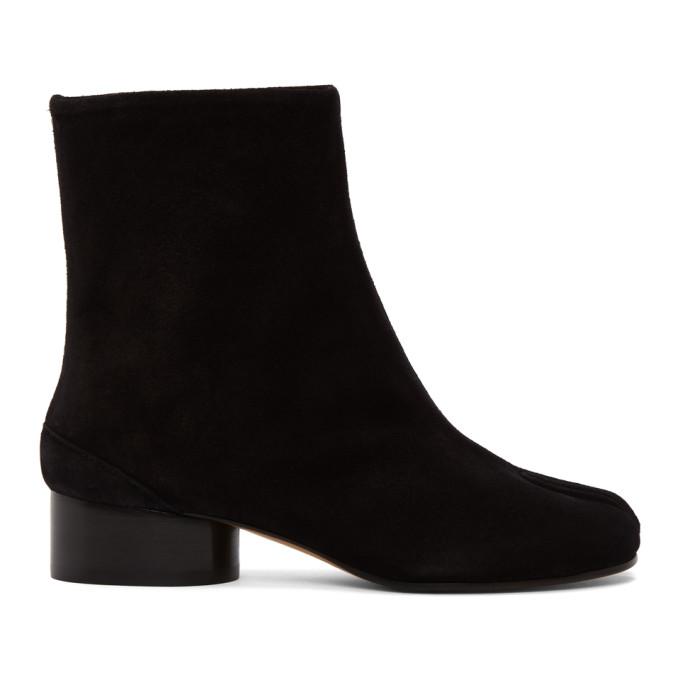 ブラック スエード Tabi 足袋 ブーツ