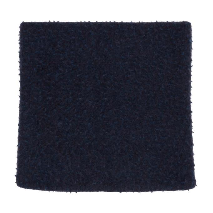 Maison Margiela Foulard en laine bleu marine Gauge 5 Casentino