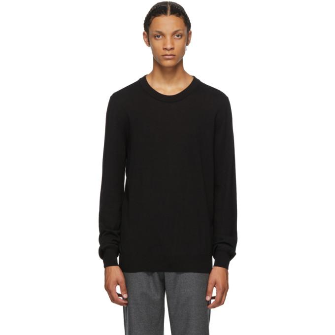 Maison Margiela Elbow Patch Sweater In 900 Black