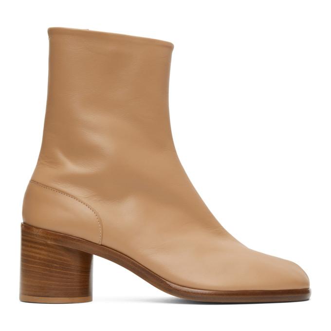 タン ミッド ヒール Tabi 足袋 ブーツ