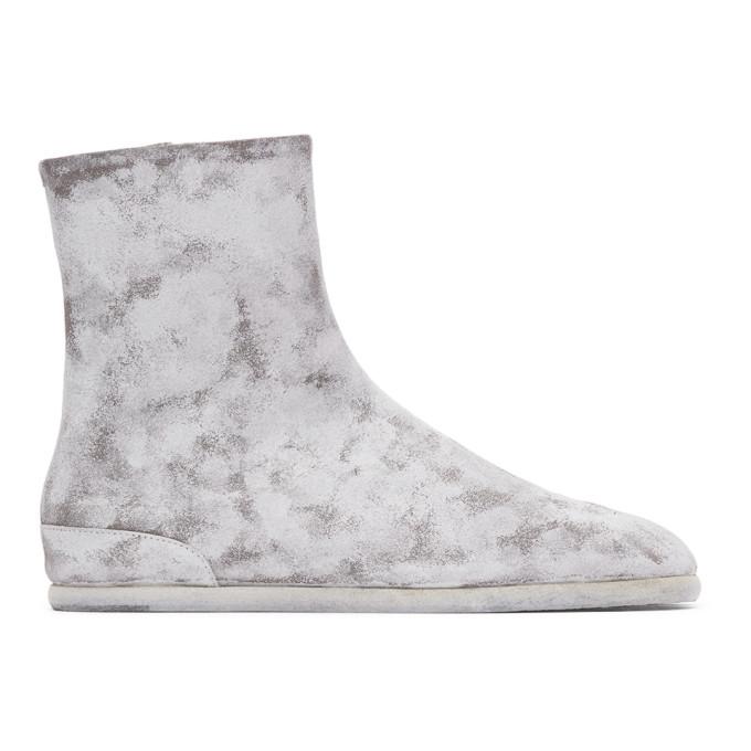 ホワイト ペイント フラット Tabi 足袋 ブーツ