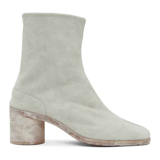 オフホワイト Hairy スエード Tabi 足袋 ブーツ