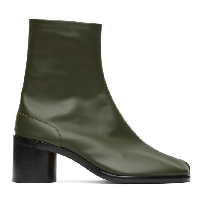 グリーン ミッド ヒール Tabi 足袋 ブーツ