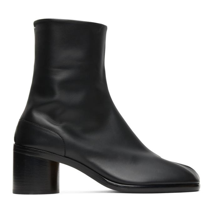 ブラック ミッド ヒール Tabi 足袋 ブーツ