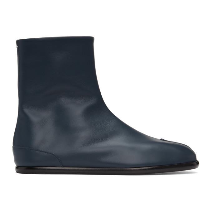 ネイビー フラット 足袋 Tabi ブーツ