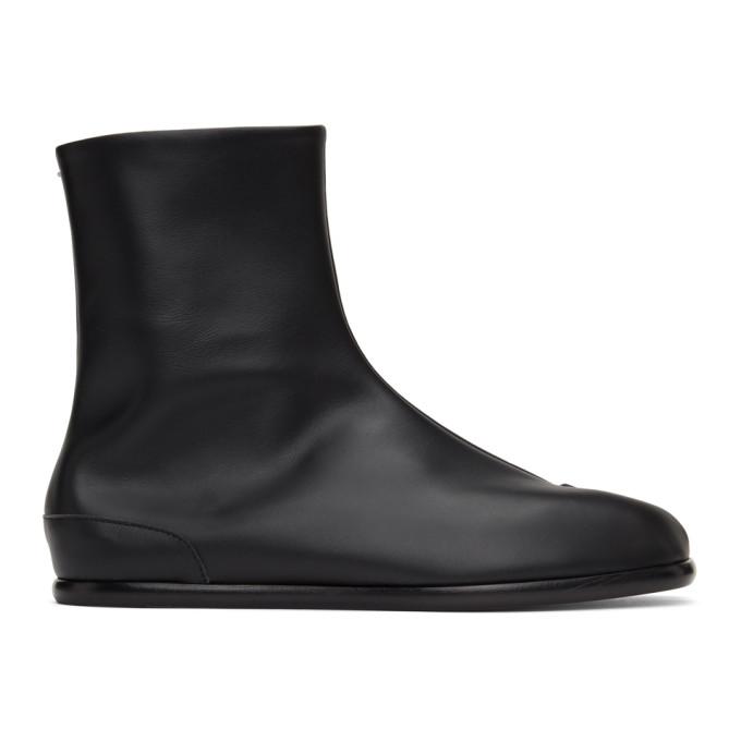 ブラック フラット Tabi 足袋 ブーツ