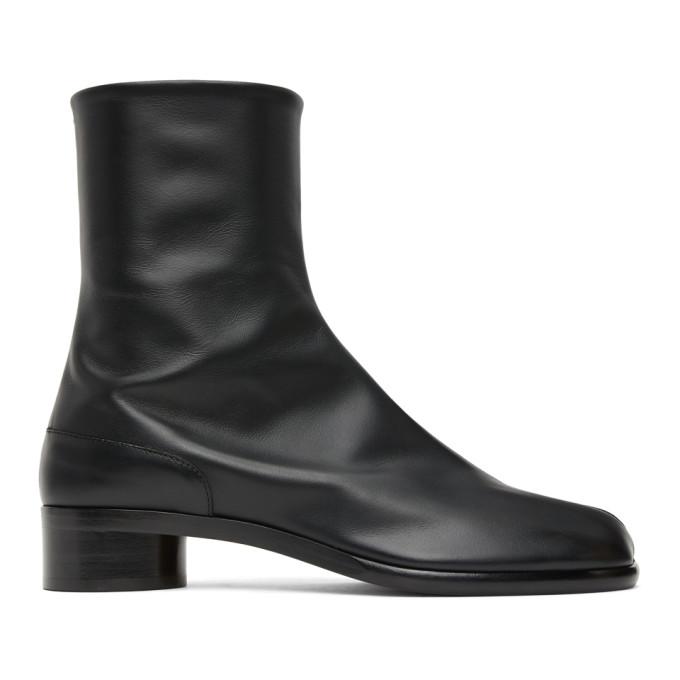 ブラック ロー ヒール Tabi 足袋 ブーツ