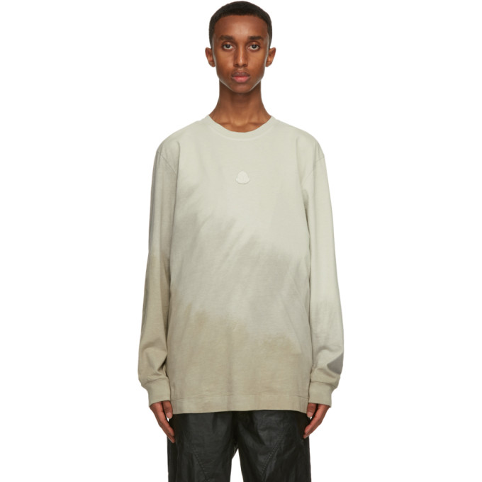 Moncler Genius Cottons MONCLER GENIUS 6 MONCLER 1017 ALYX 9SM TAUPE JERSEY LONG SLEEVE T-SHIRT