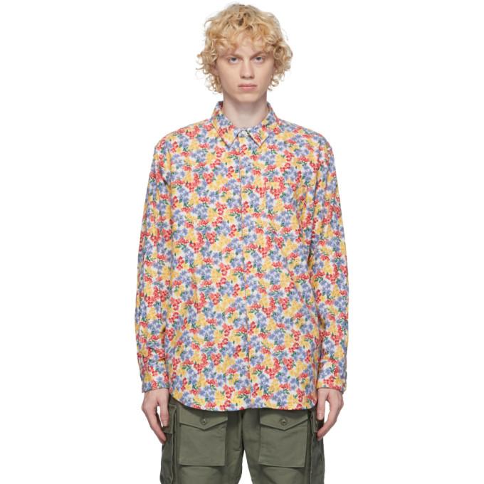 Engineered Garments マルチカラー フランネル フローラル シャツ
