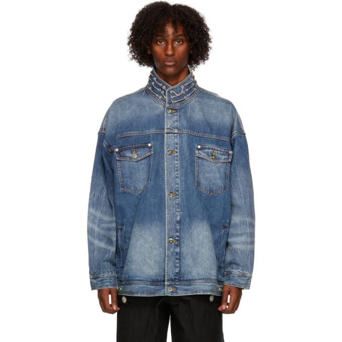 Sankuanz Blue Denim Hardware Jacket