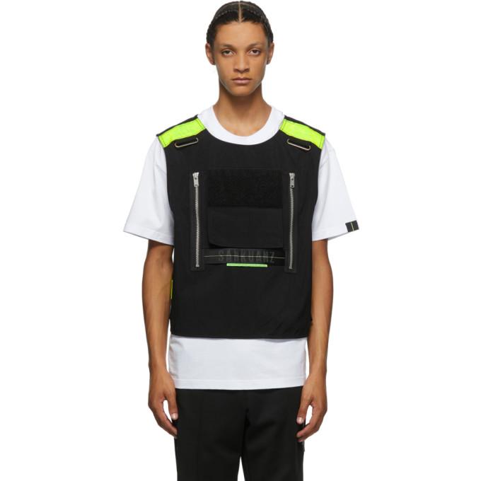 Sankuanz White And Black Vest T-shirt