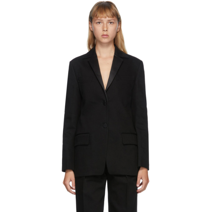 Alexander Wang ALEXANDER WANG BLACK SINGLE BREASTED TUXEDO BLAZER